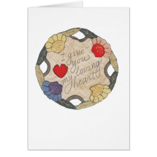 Heart Embroidered Circle Card