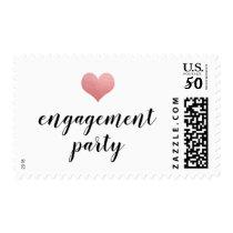 Heart   Engagement Party Handwritten Script Postage