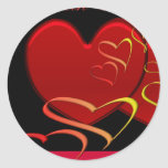 Heart Envelope Seals Round Sticker