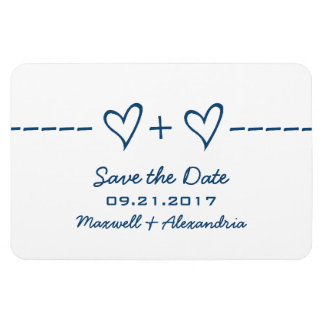 Heart Equation Save the Date Magnet, Blue Magnet
