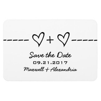 Heart Equation Save the Date Magnet, Ebony Magnet