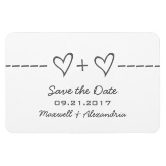 Heart Equation Save the Date Magnet, Gray Magnet
