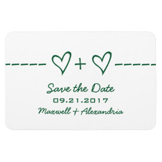 Heart Equation Save the Date Magnet, Green Magnet