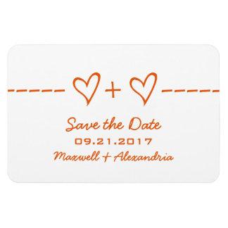 Heart Equation Save the Date Magnet, Orange Rectangular Photo Magnet