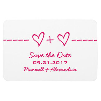 Heart Equation Save the Date Magnet, Pink Magnet