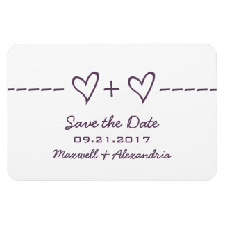 Heart Equation Save the Date Magnet, Purple Magnet