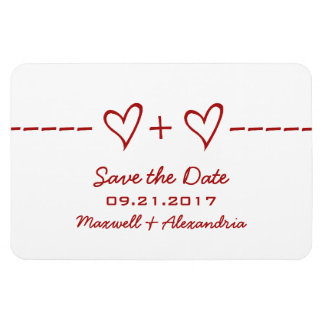 Heart Equation Save the Date Magnet, Red Magnet