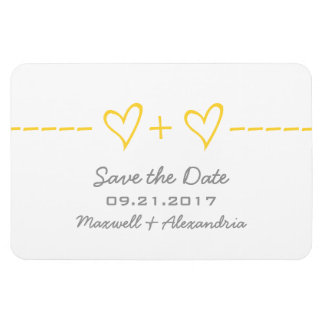 Heart Equation Save the Date Magnet, Yellow Magnet