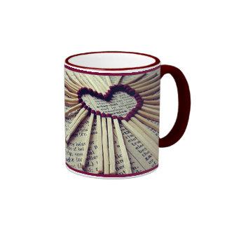 Heart Eternal Love Ringer Coffee Mug