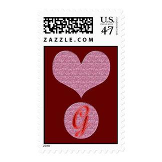 Heart Exclamation Monogram Postage