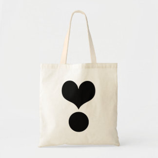 Heart Exclamation Point Tote Bags