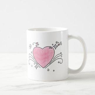 Heart explosion coffee mug