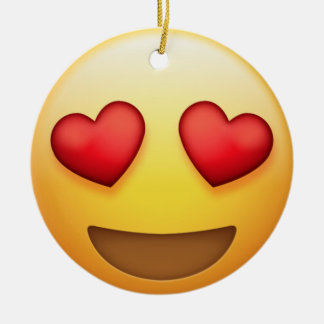 Heart Eye and Kiss Emoji Ornament