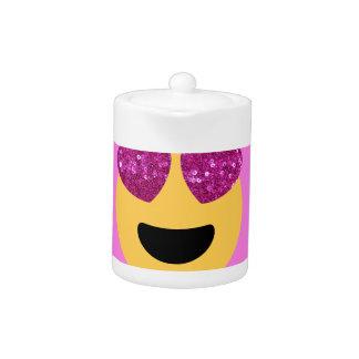 heart eye emoji teapot