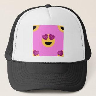heart eye emoji trucker hat