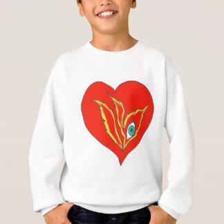 HEART EYE FLAME 1.PNG SWEATSHIRT