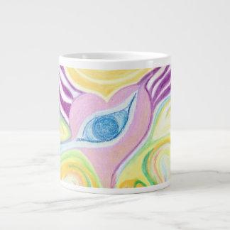 Heart Eye Yellow Mug Design