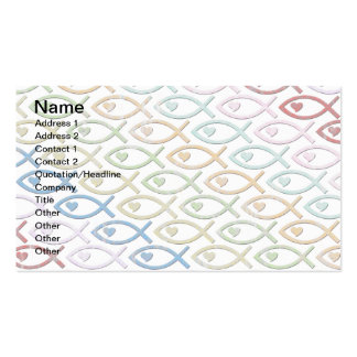 HEART-EYED JESUS FISH BUSINESS CARDS