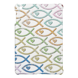 HEART-EYED JESUS FISH iPad MINI COVER