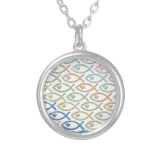 HEART-EYED JESUS FISH PERSONALIZED NECKLACE