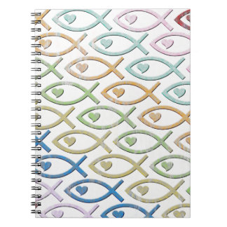 HEART-EYED JESUS FISH NOTEBOOK