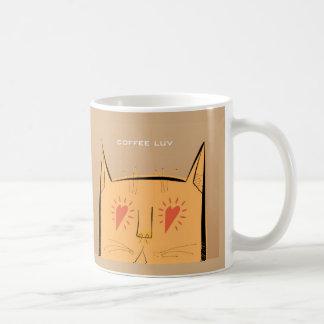 Heart eyes coffee luv cat coffee mug
