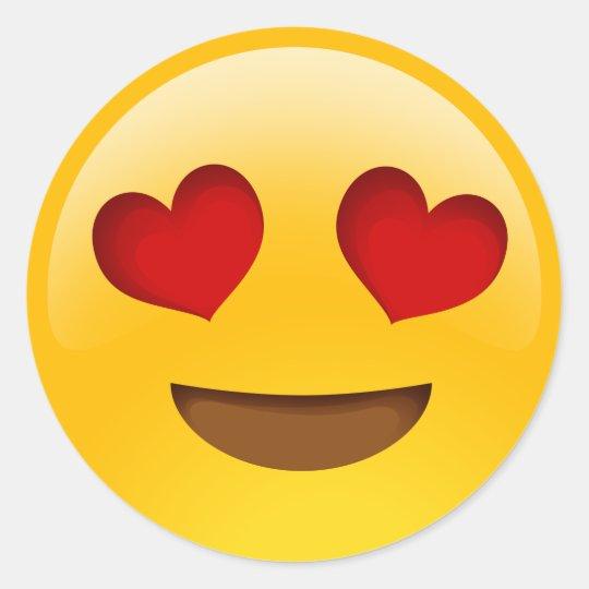 heart eyes emoji stickers zazzle com