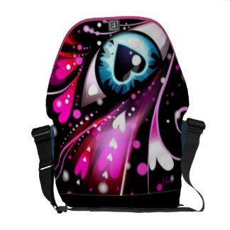 Heart Eyes for you only Rickshaw Messenger Bag
