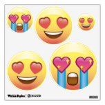 Heart Eyes Love Fangirl Emoji Faces Wall Decals