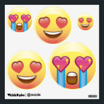 """Heart Eyes Love Fangirl Emoji Faces Wall Decals<br><div class=""""desc"""">Spread the love or fangirling around.</div>"""