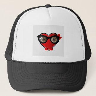 Heart Face Happy Emoticon Trucker Hat