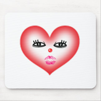heart face mouse pad