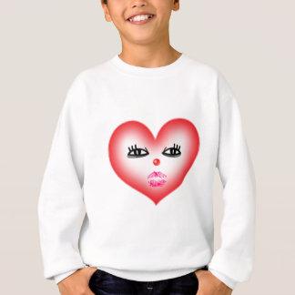 heart face sweatshirt