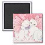 Heart fairy kitties magnet