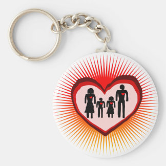 heart  family keychain