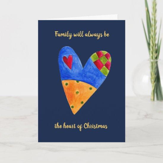 Heart Family Love Christmas Holiday Greeting