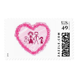 heart  family stamps