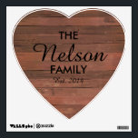 """Heart Family Wall Decal<br><div class=""""desc"""">Use this wall decal to show your family name.</div>"""