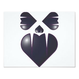Heart Fang Face Card