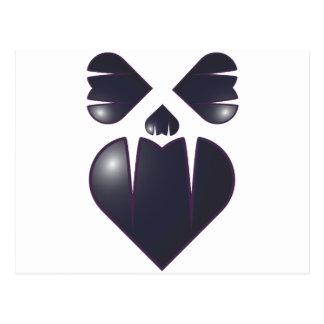 Heart Fang Face Postcard