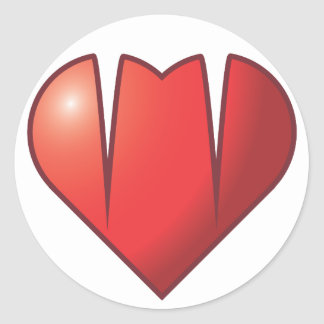 Heart Fangs Classic Round Sticker