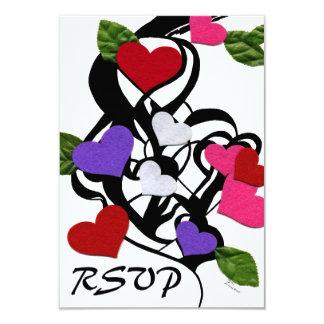 "Heart Felt RSVP 3.5"" X 5"" Invitation Card"