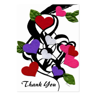 Heart Felt Thank You Gift Tags Large Business Card