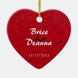 Heart Felt Wedding Favor Ornament