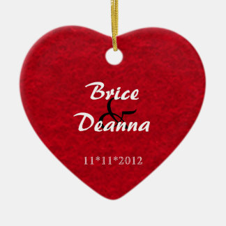 Heart Felt Wedding Favor Ornament