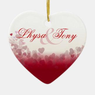 Heart Festival Valentine Love Christmas Ornament