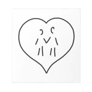 heart few two persons notepad