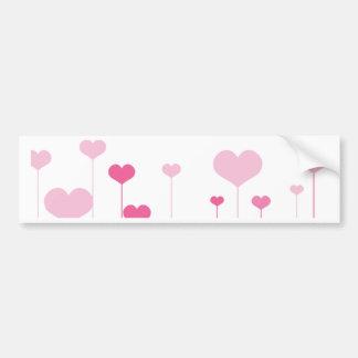 Heart Field Bumper Sticker