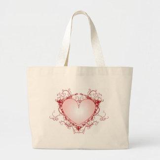 Heart Filigree Jumbo Tote Bag
