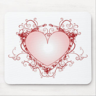 Heart Filigree Mouse Pad